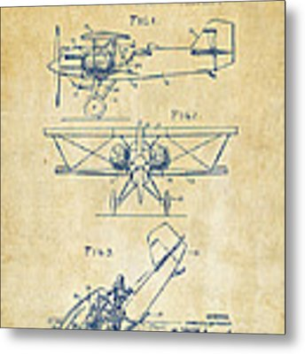 1931 Aircraft Emergency Floatation Patent Vintage Metal Print