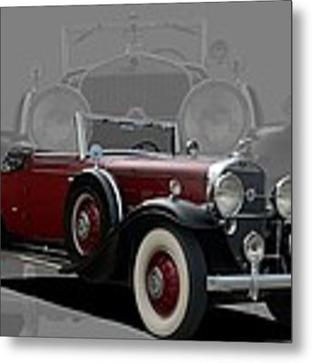 1931 Cadillac V12 Roadster Metal Print by Tim McCullough