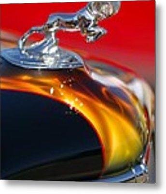 1936 Dodge Ram Hood Ornament 1 Metal Print