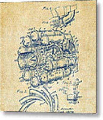 1946 Jet Aircraft Propulsion Patent Artwork - Vintage Metal Print
