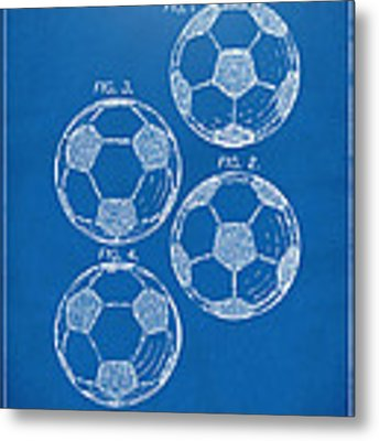 1964 Soccerball Patent Artwork - Blueprint Metal Print