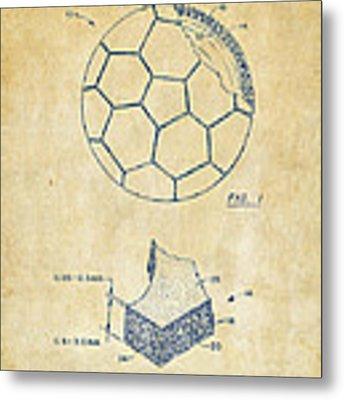 1996 Soccerball Patent Artwork - Vintage Metal Print