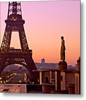 Eiffel Tower At Dawn / Paris Metal Print by Barry O Carroll