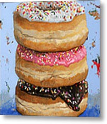 3 Donuts #2 Metal Print