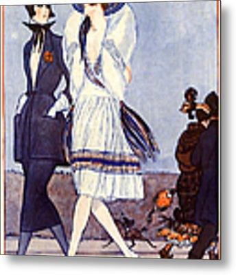 1920s France La Vie Parisienne Magazine Metal Print by The Advertising Archives