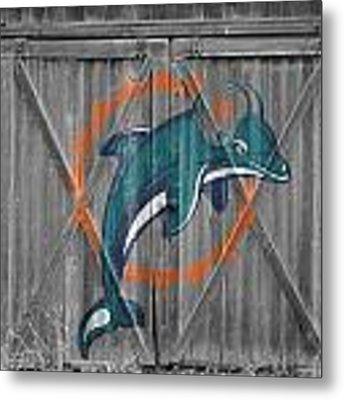 Miami Dolphins Metal Print by Joe Hamilton