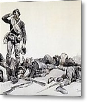 After The Battle Metal Print by Frederic Remington
