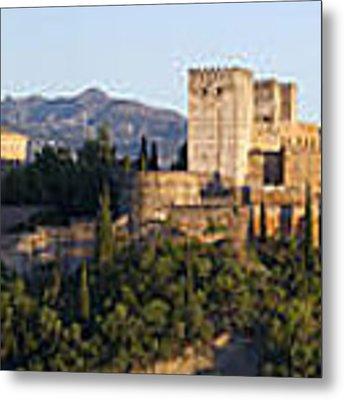 Alhambra Palace - Panorama Metal Print by Nathan Rupert