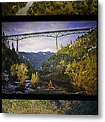 American River Triptych Metal Print by Sherri Meyer