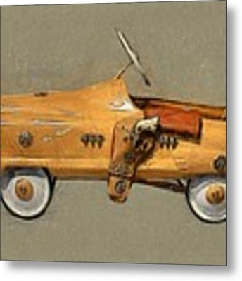Antique Pedal Car L Metal Print by Michelle Calkins