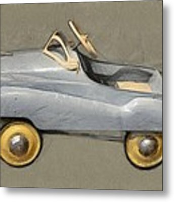 Antique Pedal Car Ll Metal Print by Michelle Calkins