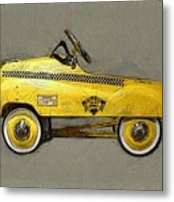 Antique Pedal Car Lll Metal Print by Michelle Calkins