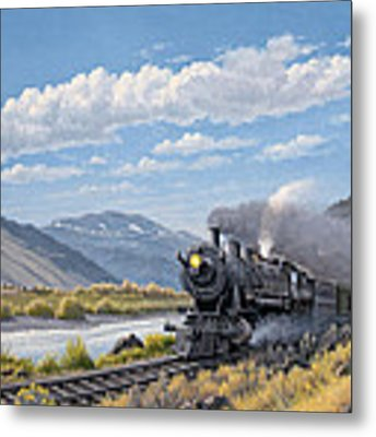 At Point Of Rocks- Bound For Livingston  Metal Print by Paul Krapf