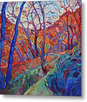 Autumn Blues Metal Print by Erin Hanson