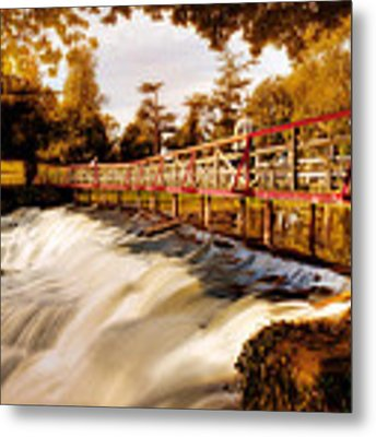 Autumn Waterfall / Maynooth Metal Print by Barry O Carroll
