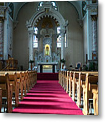 Basilica Of Saint Stanislaus Kostka Interior Center Metal Print by Kari Yearous