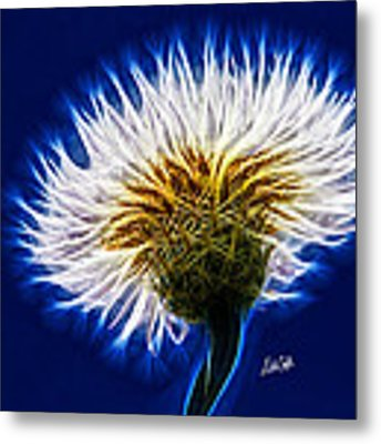 Basket Flower Inner Beauty Metal Print by Nikki Marie Smith