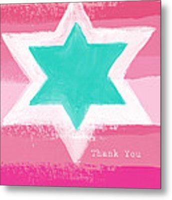 Bat Mitzvah Thank You Card Metal Print