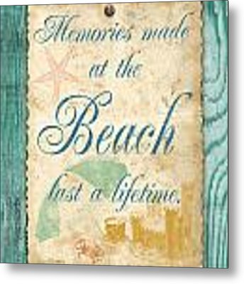 Beach Notes-a Metal Print by Jean Plout