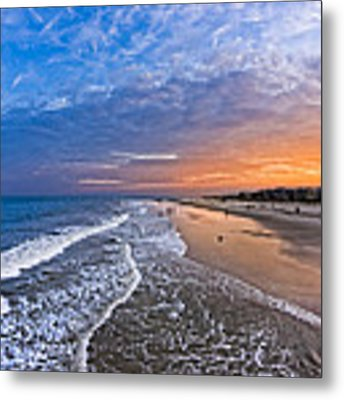 Beautiful Sunset Over Tybee Island Metal Print by Mark E Tisdale