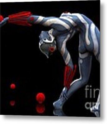 Body In Motion Metal Print by Sandra Bauser Digital Art
