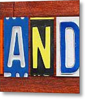 Brandon License Plate Name Sign Fun Kid Room Decor Metal Print