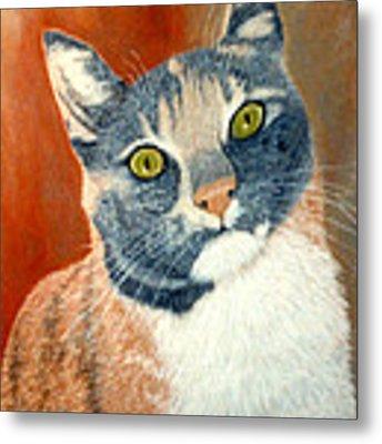 Calico Cat Metal Print by Karen Zuk Rosenblatt