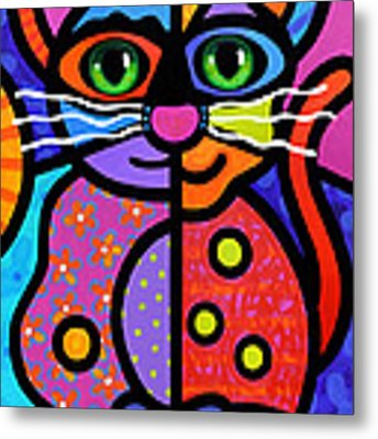 Calico Cat Metal Print by Steven Scott