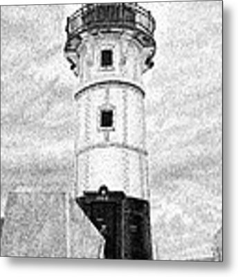 Canal Park Lighthouse Metal Print by Rob Christensen