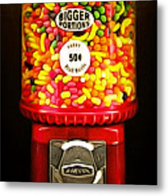 Candy Machine 40d8940 20150222 Metal Print by Wingsdomain Art and Photography