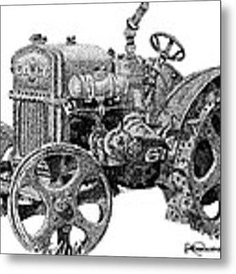Case Tractor Metal Print by Rob Christensen