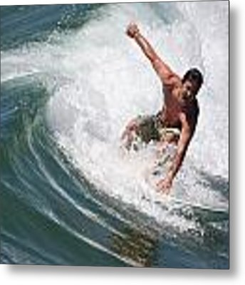 Catching The Perfect Wave Metal Print by Nathan Rupert