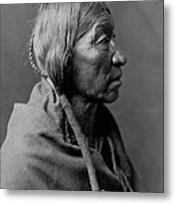 Cheyenne Indian Woman Circa 1910 Metal Print by Aged Pixel