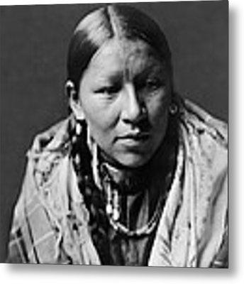 Cheyenne Young Woman Circa 1910 Metal Print by Aged Pixel