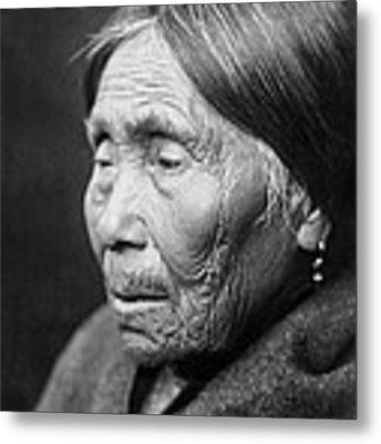 Chimakum Indian Woman Circa 1913 Metal Print by Aged Pixel