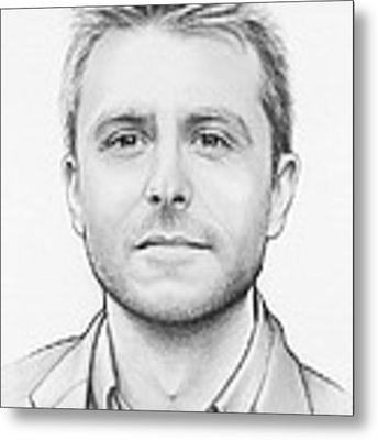 Chris Hardwick Metal Print by Olga Shvartsur