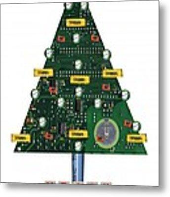 Christmas Tree Motherboard Metal Print