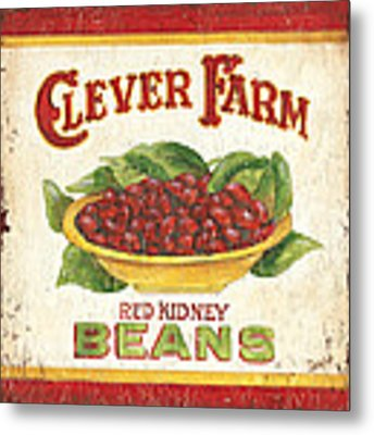 Clever Farms Beans Metal Print