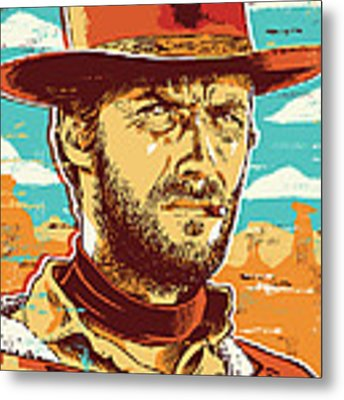 Clint Eastwood Pop Art Metal Print by Jim Zahniser