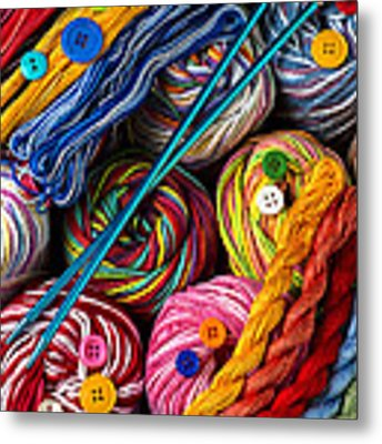 Colorful World Of Art And Craft Metal Print by Garry Gay