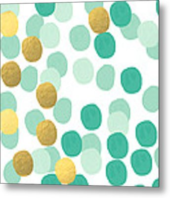 Confetti 2- Abstract Art Metal Print