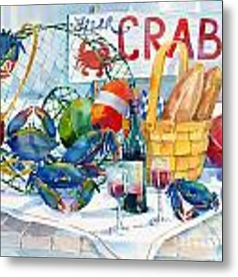 Crabs Galore Metal Print by Paul Brent