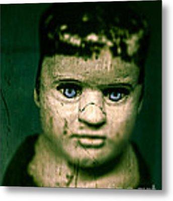 Creepy Zombie Child Metal Print by Edward Fielding