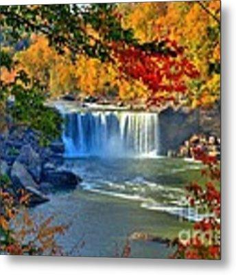 Cumberland Falls In Autumn 2 Metal Print by Mel Steinhauer
