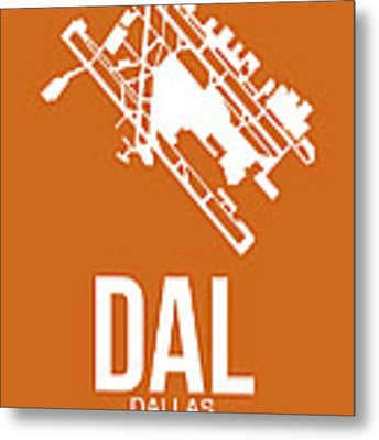 Dal Dallas Airport Poster 2 Metal Print by Naxart Studio