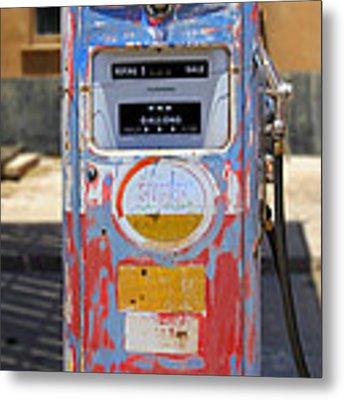 Desert Mountain Super Gasoline - Bennett Gas Pump Metal Print