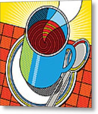 Diner Coffee Metal Print by Ron Magnes