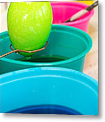 Dying Easter Eggs Metal Print