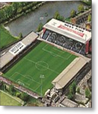 Edgeley Park - Stockport County Metal Print by Kevin Fletcher