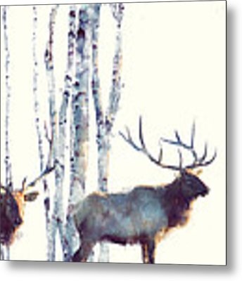 Elk // Follow Metal Print